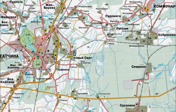 2001 - Карта Ленинградcкой области