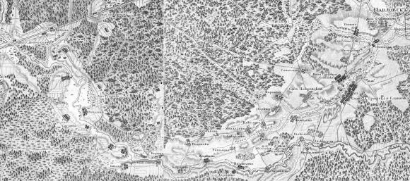 1817 - Топографическая карта окружности Санкт-Петербурга