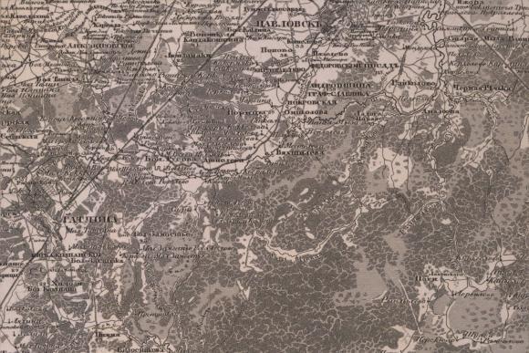 1834 - Топографическая карта Санкт-Петербургской губернии