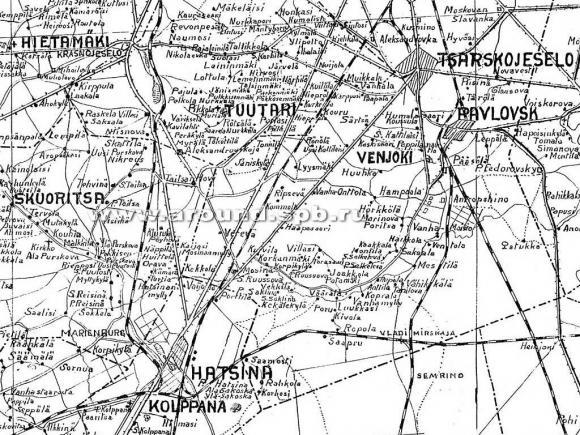 1925 - Петергоф - Гатчина - Колпино