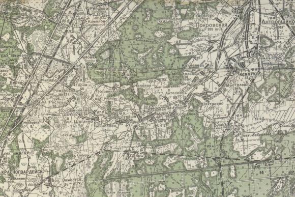 1941 - Карта Ленинградcкой области