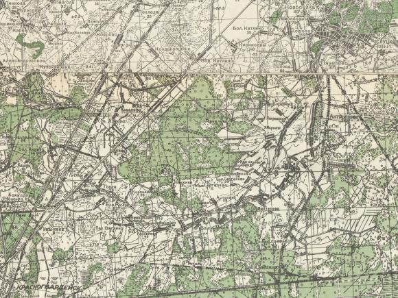 1941 - Карта генерального штаба РККА