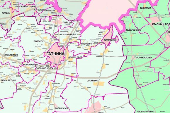 2010 - Карта территории ЛО и границ МО