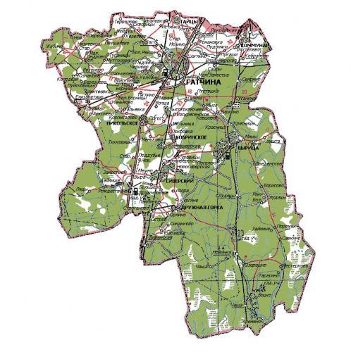 2015 - Карта Гатчинского района