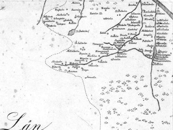 1699 - Карта Нотебургского лёна (Ингерманландия)