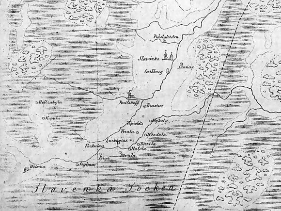 1601 - Карта Ингерманландии