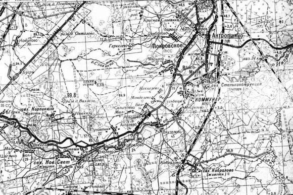 1955 - Карта Ленинградcкой области