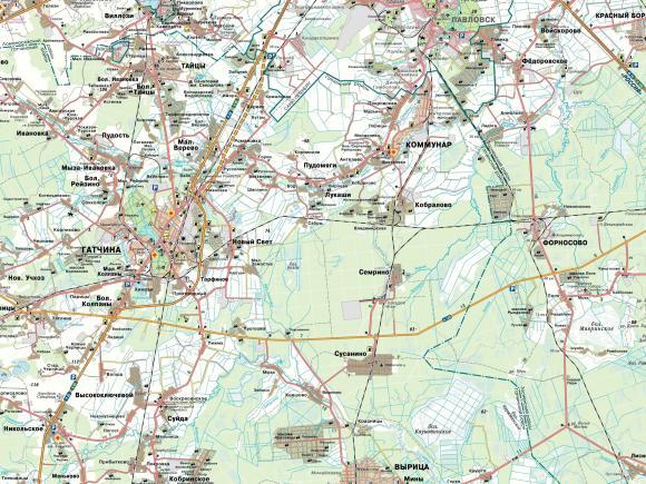 2014 - Карта Ленинградской области