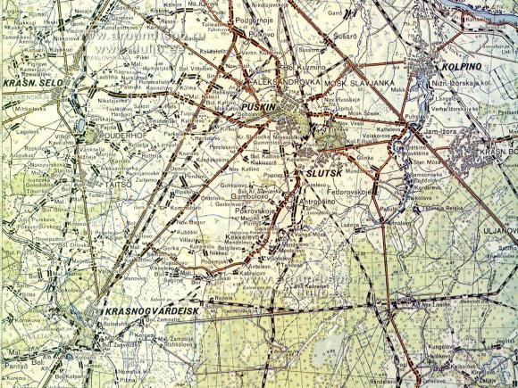 1936 - Ленинградская область (Эстонская карта)