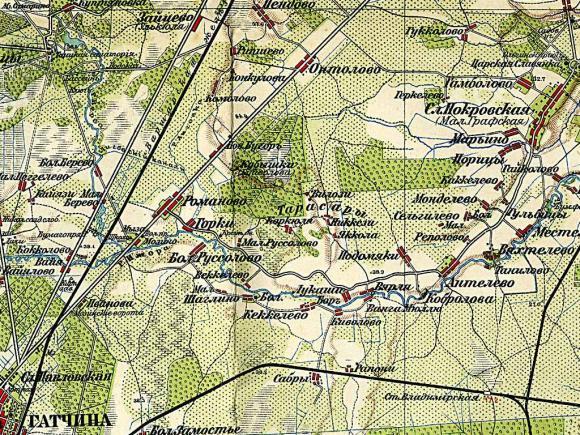 1909 - Карта Окрестностей Петрограда