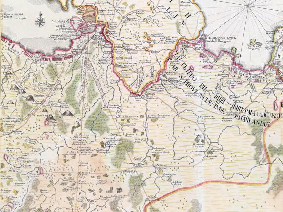 1745 - Ладожское озеро и Финский залив с прилегающими местами