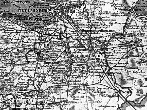 1922 - Карта Петербургской губернии