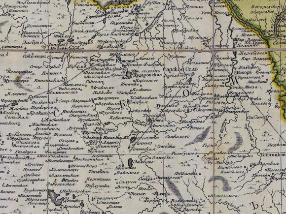 1770 - Карта Санкт-Петербургской губернии