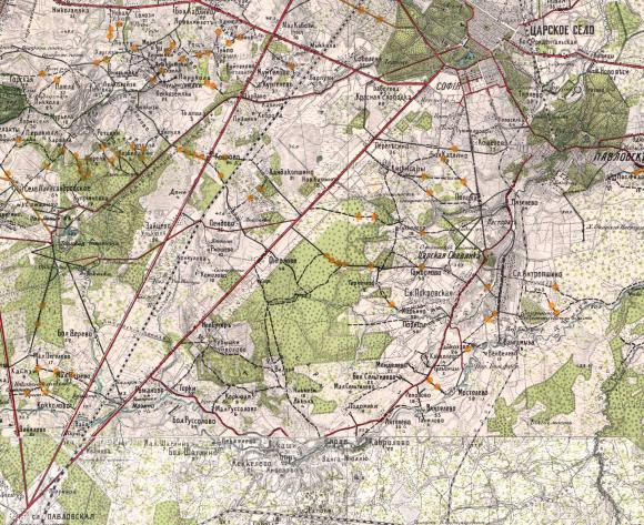 1913 - Карта района маневров