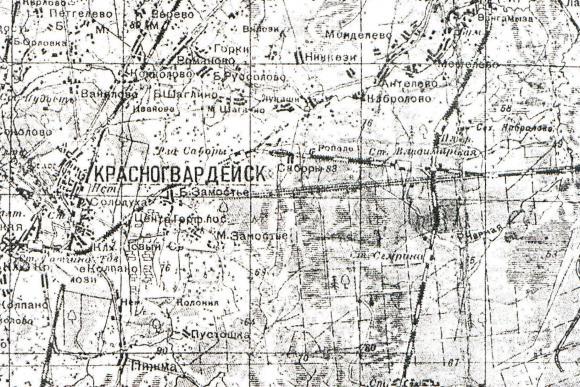 1930 - Карта Ленинградcкой области